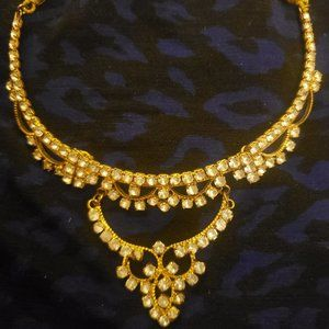 Golden White Zircon Set